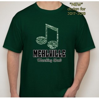 Mehlville Band Forest Green T Shirt